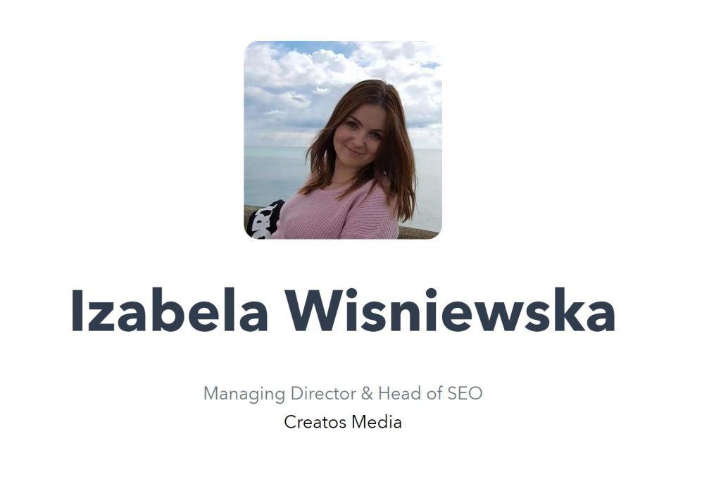 Izabela Wisniewska - Brighton SEO - Creatos Media