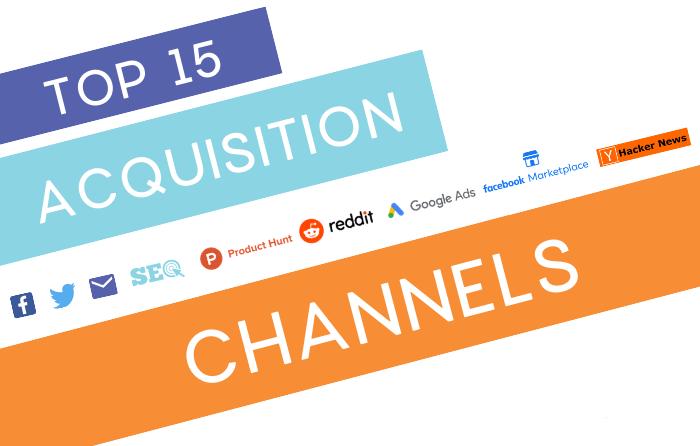 Top 15 acquisition channels - Creatos Media